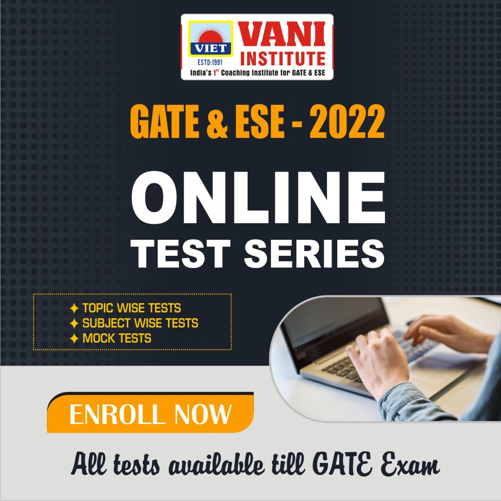 GATE-2022 ONLINE TEST SERIES